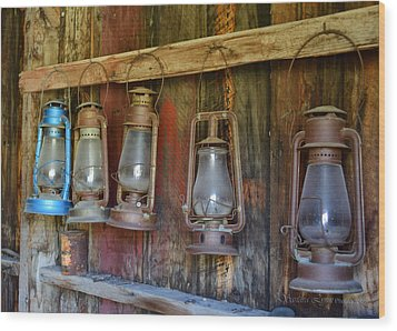 Bodie Blue Light Special Wood Print