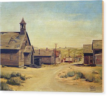 Bodie California Wood Print by Evelyne Boynton Grierson