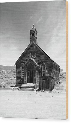Bodie Church Wood Print by Michael Courtney