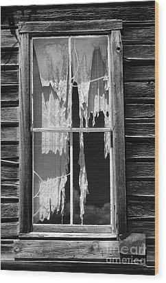Bodie Ghost Town Wood Print by Sandra Bronstein