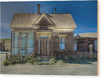 Bodie House Wood Print by Greg Nyquist