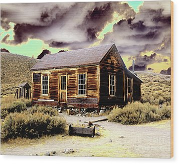 Wood Print featuring the photograph Bodie House by Jim and Emily Bush