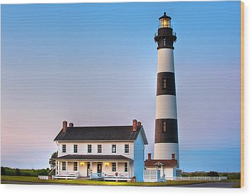 Bodie Island Lighthouse Wood Print by Bernard Chen