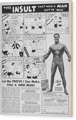 Body-building Ad, 1962 Wood Print by Granger
