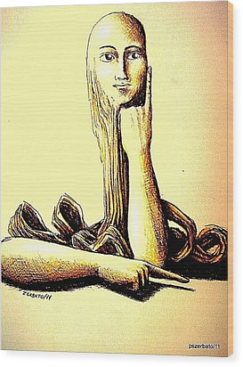 Body Language Wood Print by Paulo Zerbato