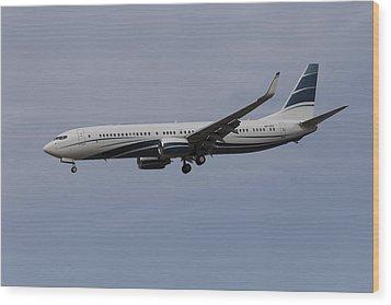 Boeing 737 Private Jet Wood Print