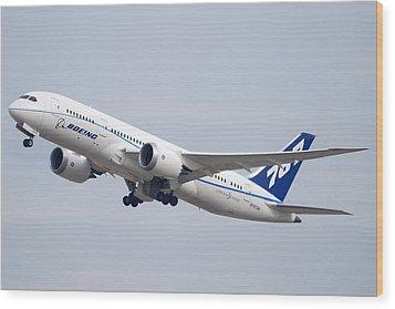 Boeing 787-8 N787za Mesa Gateway Airport November 11 2011 Wood Print