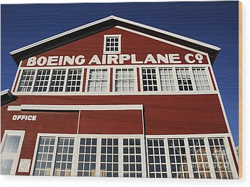 Boeing Airplane Hanger Number One Wood Print by David Lee Thompson