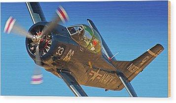 Boeing North American T-38 Race 66 Reno Air Races 2010 Wood Print by Gus McCrea