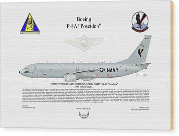 Boeing P-8a Poseidon Wood Print by Arthur Eggers