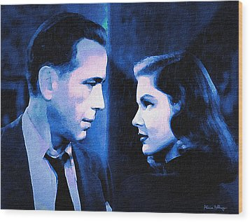 Bogart And Bacall - The Big Sleep Wood Print
