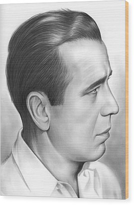 Bogart Wood Print by Greg Joens
