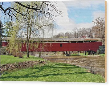 Bogert Covered Bridge Wood Print