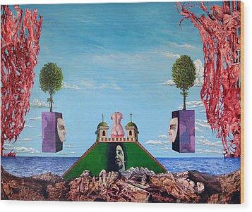 Bogomils Monastic Retreat Wood Print by Otto Rapp