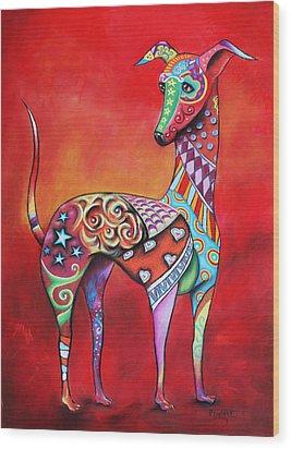 Italian Greyhound  Wood Print by Patricia Lintner