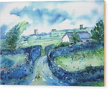 Boithrin Inisheer Wood Print by Trudi Doyle