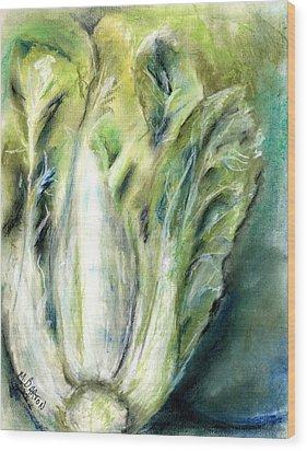 Bok Choy Wood Print