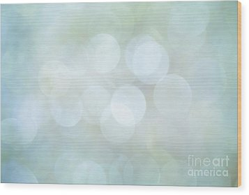 Wood Print featuring the photograph Bokeh Clouds by Jan Bickerton