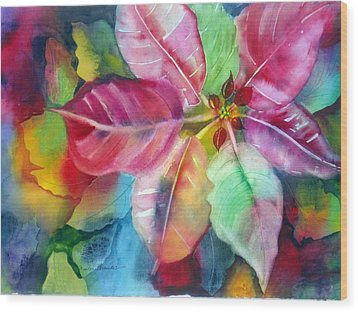 Bold Bloom Wood Print by Maritza Bermudez