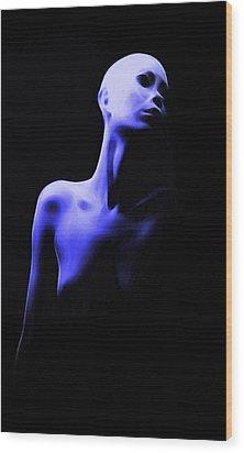 Bold Girl Wood Print by Steve K