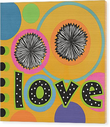 Wood Print featuring the mixed media Bold Love by Gloria Rothrock