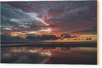 Bold Sunrise Delray Beach Florida Wood Print