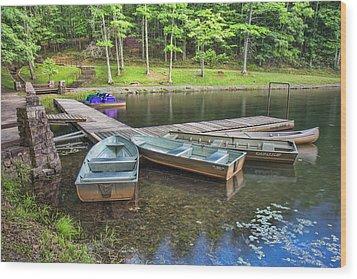 Boley Lake Wood Print