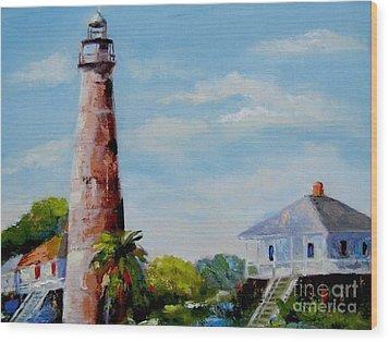 Bolivar Lighthouse Wood Print