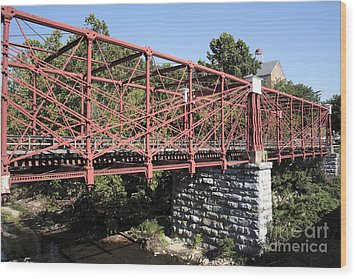 Bollman Truss Bridge At Savage In Maryland Wood Print