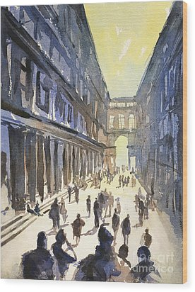 Wood Print featuring the painting Bologna Sunset- Italy by Ryan Fox