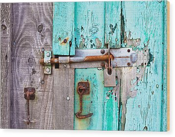 Bolted Door Wood Print by Tom Gowanlock