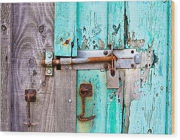 Bolted Door Wood Print
