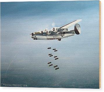 Bombs Away Wood Print by Marc Stewart
