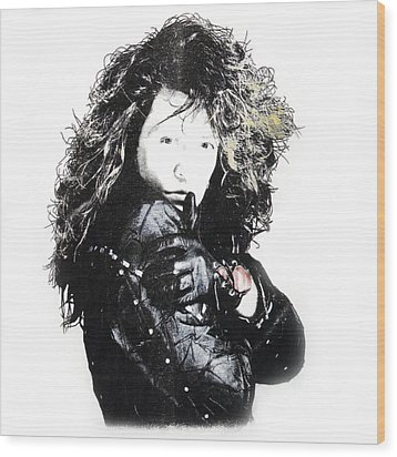 Bon Jovi Wood Print by Gina Dsgn