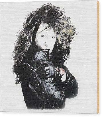 Wood Print featuring the digital art Bon Jovi by Gina Dsgn