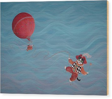 Wood Print featuring the painting Bon Voyage by Dee Davis