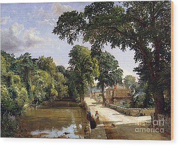 Bonchurch Isle Of Wight Wood Print by Jasper Francis Cropsey
