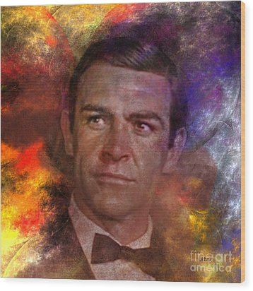 Bond - James Bond - Square Version Wood Print by John Robert Beck