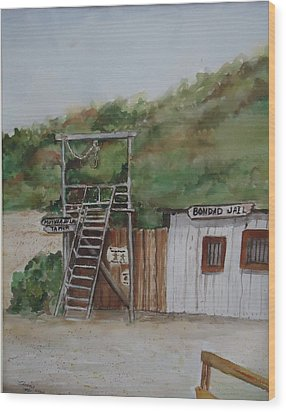 Bondad Colorado Jail Wood Print by Charme Curtin