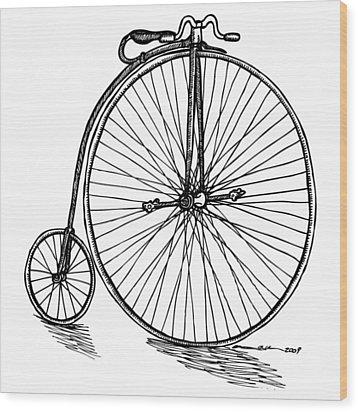 Boneshaker Bicycle Wood Print by Karl Addison