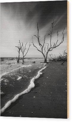 Wood Print featuring the photograph Boneyard Beach I by Steven Ainsworth