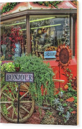 Wood Print featuring the photograph Bonjour Hello Good Day by Thom Zehrfeld