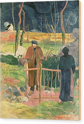 Bonjour Monsieur Gauguin Wood Print by Paul Gauguin