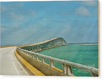 Bonner Bridge - Highway 12 Nc Wood Print by Anne Kitzman