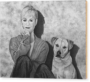 Bonnie Hunt And Charlie Wood Print by Peter Piatt