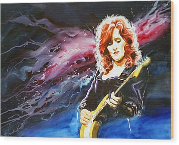 Bonnie Raitt Wood Print by Ken Meyer jr