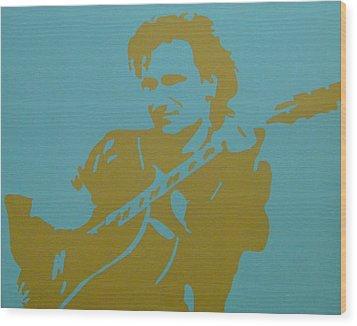 Bono Wood Print by Doran Connell