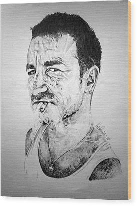 Bono Wood Print by Sean Leonard
