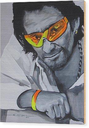 Bono  U2 2 U Wood Print by Eric Dee