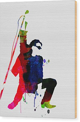 Bono Watercolor Wood Print